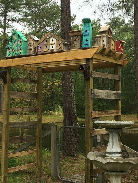 birdhouse arbor   scrap wood  pallet boards