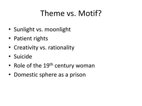 themes vs motif ppt the yellow wallpaper powerpoint presentation id