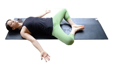 Reclining Bound Angle Pose by Two Fit Moms Grounding Gravity Defying Poses For