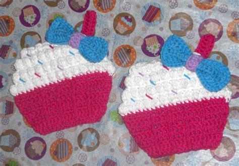 pattern for cupcake holder crochet cupcake pot holders homemade gifts pinterest