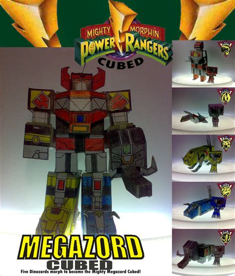 Megazord Papercraft - megazord cubed by yukero on deviantart