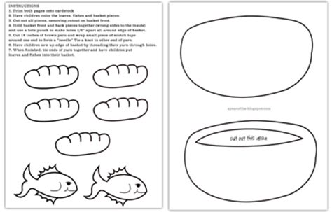 A Year Of Fhe 2010 Wk 50 Many Miracles Five Loaves And Two Fishes Coloring Page