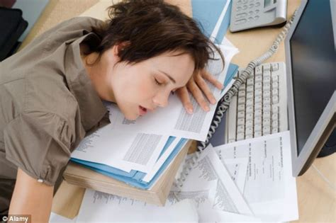 Picture Of Someone Sleeping At Their Desk by 1 In 5 Workers Admits Falling Asleep At Their Desk With