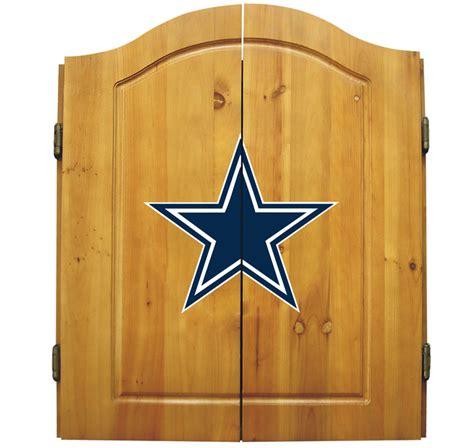 Dallas Cowboys Nfl Complete Dart Board Cabinet Set W