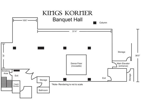 banquet hall floor plan banquet hall receptions richmond va king s korner