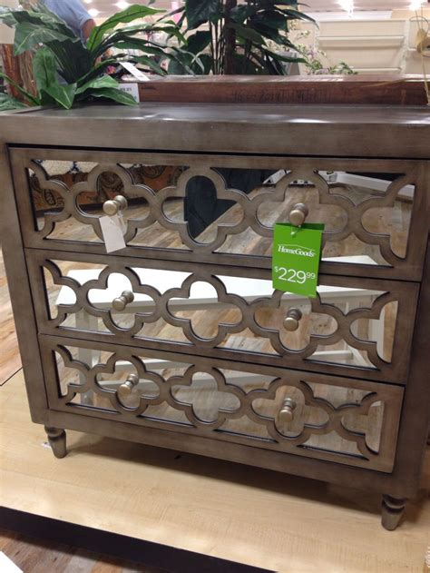 mirrored dresser w trellis pattern seen at homegoods