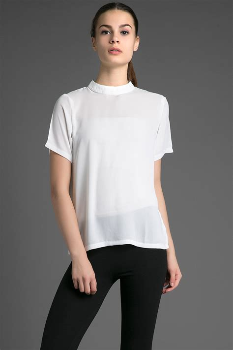 Blouse Blus Atasan Pakaian Wanita White Foxy M 346203 sell bonaya top blouse berrybenka