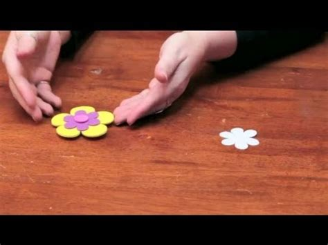 diy foam crafts how to make roses or flower magnets out of foam diy