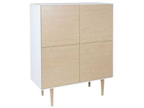 aparador escandinavo aparador blanco y madera escandinavo cuadrado con patas altas