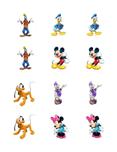 mickey mouse clubhouse edible cupcake toppers ebay