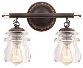 Farmhouse Bathroom Lighting Kalco Lighting 6312ac Brierfield Antique Copper 2 Light Vanity Farmhouse Bathroom Vanity