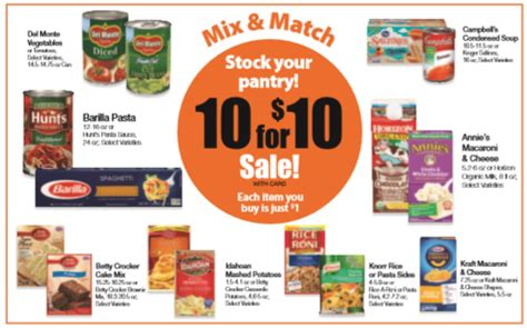 Mix Match On Sale by Kroger Buy 10 For 10 Sale Begins Today