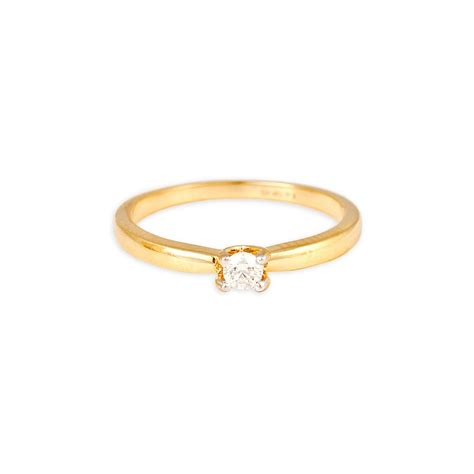 buy tanishq 18 kt gold finger ring studded id