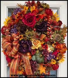 fall wreaths autumn joy fall decorative wreath a front door for