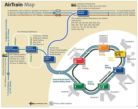 jfk airtrain map airport information new york china eastern airlines