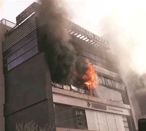 major fires hit ahmedabad   day  indian express