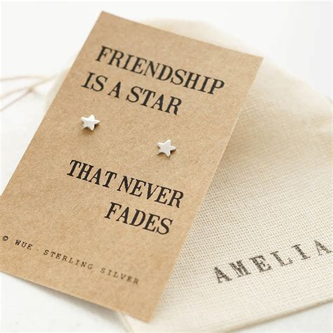 best day to get friendship silver earrings by wue