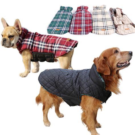 golden retriever winter coat reversible autumn winter golden retriever big clothes plaid warm windproof coat