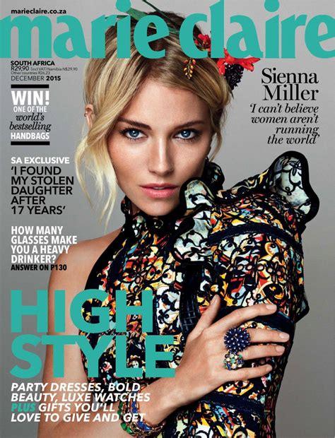 sienna miller in marie claire magazine october 2015 issue sienna miller marie claire magazine south africa