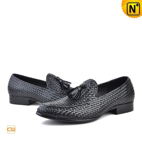 woven loafer s woven leather loafers with tassel cw750059