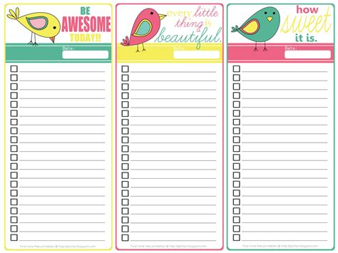diy to do list template diy home sweet home free printable three birds