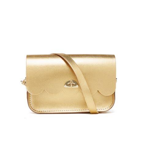 Tas Wanita Brand Mg Saffiano Bag the cambridge satchel company s small cloud bag gold saffiano womens accessories