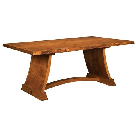 amish live edge table tahoe trestle live edge table amish solid wood tables