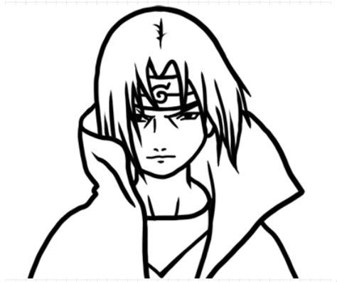 tutorial menggambar itachi cara menggambar anime itachi part 1 goyang pensil