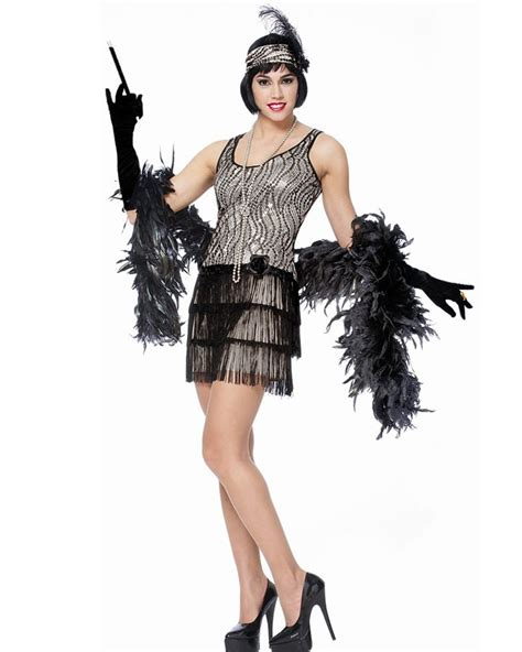 Costume Rompi Silver 1 silver broadway flapper womens costume themes