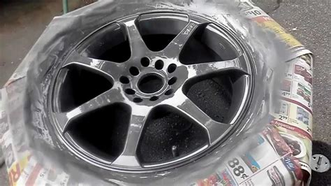quot how to paint rims with rustoleum quot wheel paint part 2 paint and clear
