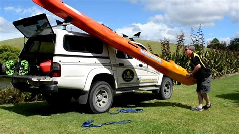 Loading A Roof Rack by How To Load Unload Your Kayak On A Roof Rack Viking