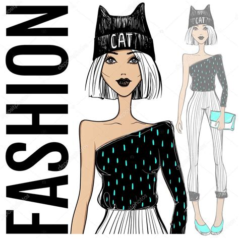 fashion jewelry images illustrations vectors fashion fashion illustration vector girl sketch model beauty face