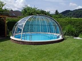 Pool enclosures modern design options and types of construction