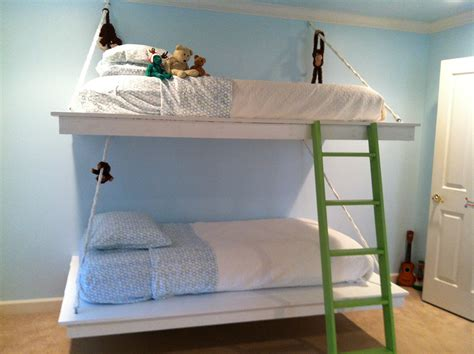 hanging beds ana white hanging bunk beds diy projects