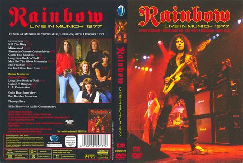 rainbow live in munich 1977 tapio s ronnie james dio pages rainbow video discography