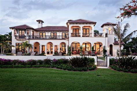 Builder Home Plans riverfront villa south florida