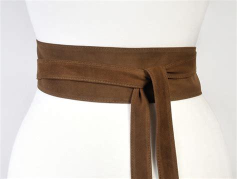 brown obi belt warm brown suede uk made uk onceuponabelt