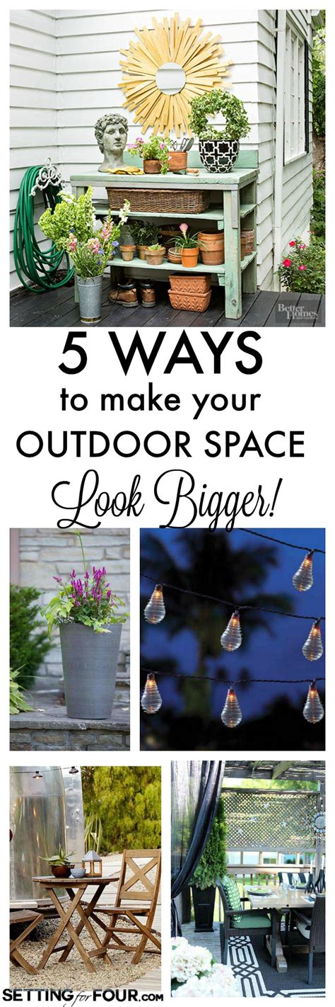How To Make Your Backyard More by How To Make Your Small Outdoor Space Look Bigger Setting