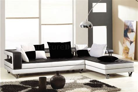white and black sectional black and white leather upholstered contemporary sectional