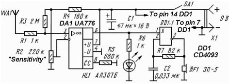 non contact voltage detector circuit diagram non contact ac mains voltage detector
