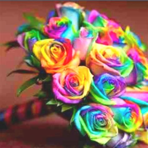 tie dye bouqets for bridemaids flowers