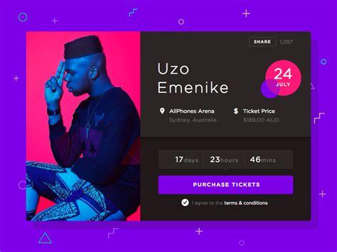 event ui design music event purchase ticket ui sketch freebie download