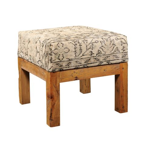 Lighter Coloured Stools by Light Colored Turkish Vintage Wool Upholstered Stool