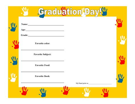 preschool graduation certificate template best