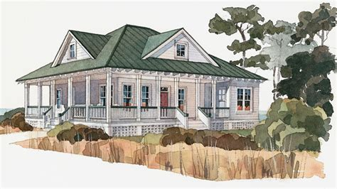 Southern Style Floor Plans low country house plans and tidewater designs at