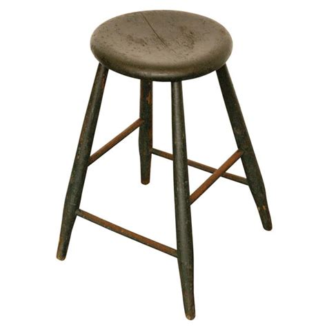 19thc original green stool at 1stdibs