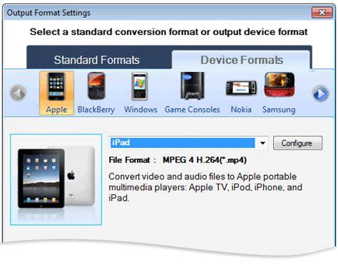 format video apple conversione dei file video da riprodurre su apple ipad
