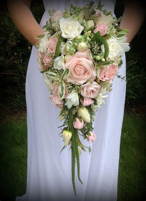 Wedding Bouquet Teardrop by Brides Wedding Flowers Teardrop Bouquet In Soft By
