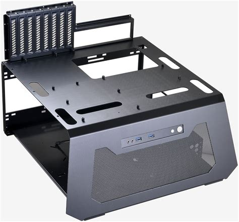 bench pc case lian li s new test bench can simulate a closed air chassis