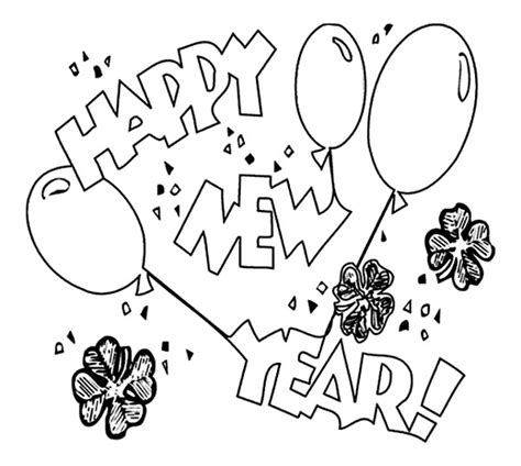 coloring pages new year free printable new years coloring pages for kids